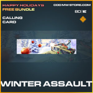 Winter Assault calling card in Call of Duty Black Ops Cold War and Warzone