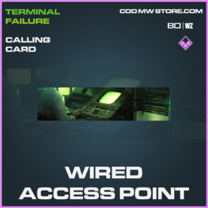 Wired Access Point calling card in Call of Duty Black Ops Cold War and Warzone