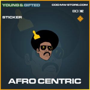 Afro Centric sticker in Black Ops Cold War and Warzone