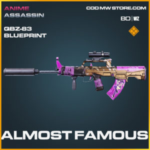 Almost Famous QBZ-83 blueprint skin in Black Ops Cold War and Warzone