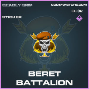 Beret Battalion Sticker Deadly Grip in Black Ops Cold War and Warzone