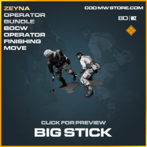 Big Stick operator finishing move Zeyna in Black Ops Cold War and Warzone