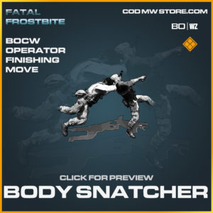 Body Snatcher Operator Finishing move in Call of Duty Black Ops Cold War and Warzone