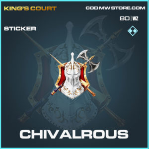 Chivalrous sticker in Black Ops Cold War and Warzone