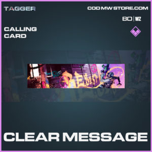Clear Message calling card in Black Ops Cold War and Warzone