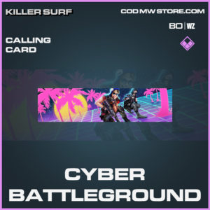 Cyber Battleground calling card in Black Ops Cold War and Warzone