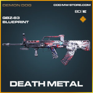 Death Metal QBZ-83 blueprint skin in Black Ops Cold War and Warzone