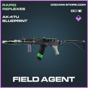 Field Agent Ak-47u blueprint skin in Black Ops Cold War and Warzone