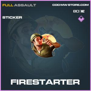 Firestarter sticker in Black Ops Cold War and Warzone