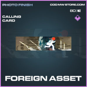 Foreign Asset calling card in Call of Duty Black Ops Cold War and Warzone