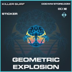Geometric Explosion sticker in Black Ops Cold War and Warzone
