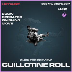 Guillotine Roll Operator Finishing move in Black Ops Cold War and Warzone
