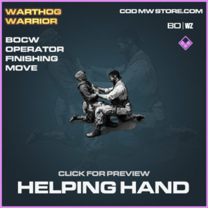 Helping Hand Operator Finishing Move in Black Ops Cold War and Warzone
