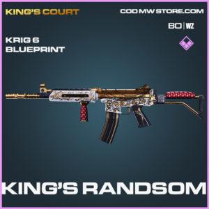 King's Randsom Krig 6 blueprint skin in Black Ops Cold War and Warzone