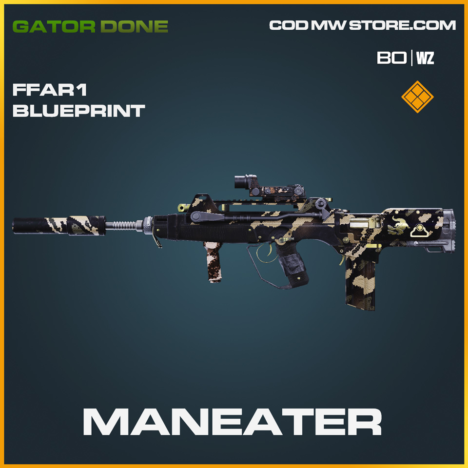Maneater FFAR1 blueprint skin in Black Ops Cold War and Warzone