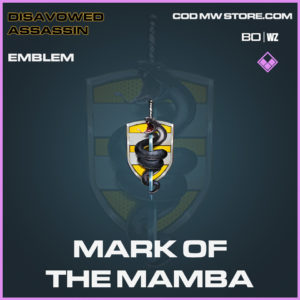 Mark of the Mamba emblemin Black Ops Cold War and Warzone