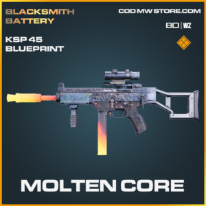 Molten Core KSP 45 blueprint skin in Black Ops Cold War and Warzone