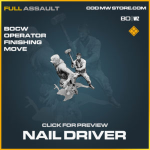 Nail Driver operator finishing move in Black Ops Cold War and Warzone