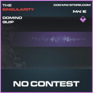 No Contest Domino Quip in Modern Warfare and Warzone