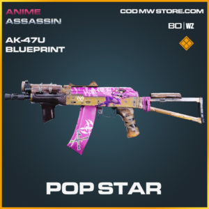 Pop Star AK-47u blueprint skin in Black Ops Cold War and Warzone
