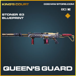 Queen's Guard stoner 63 blueprint skin in Black Ops Cold War and Warzone