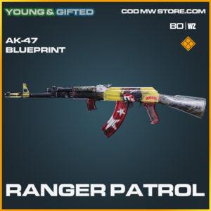 Ranger Patrol AK-47 blueprint skin in Black Ops Cold War and Warzone