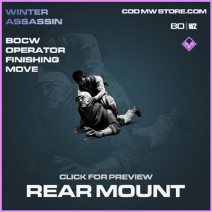 Rear Mount operator finishing move in Black Ops Cold War and Warzone