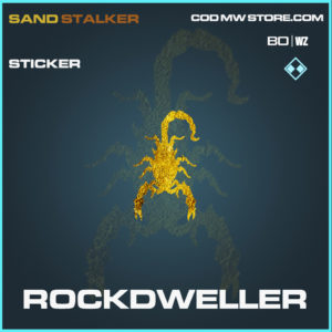 Rockdweller sticker in Black Ops COld war and Warzone