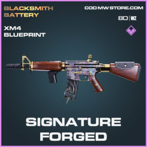 Signature Forged XM4 blueprint skin in Black Ops Cold War and Warzone
