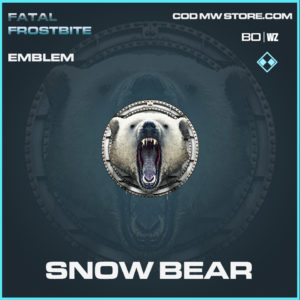 Snow Bear emblem in Call of Duty Black Ops Cold War and Warzone