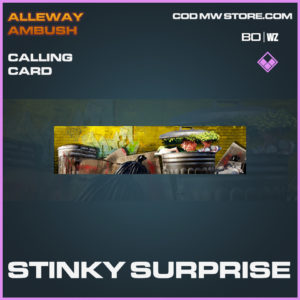 Stinky Surprise calling card in Black Ops Cold War and Warzone