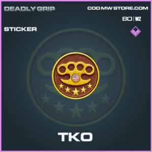 TKO sticker Deadly Grip in Black Ops Cold War and Warzone