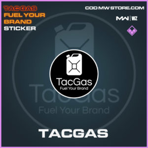 Tacgas sticker in Modern Warfare and Warzone