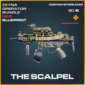 The Scalpel MP5 blueprint skin in Black Ops Cold War and Warzone
