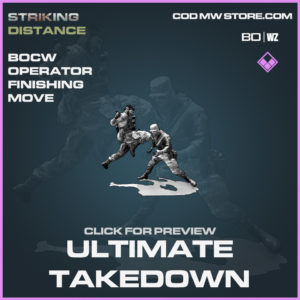Ultimate Takedown Operator Finishing Move in Black Ops Cold War and Warzone