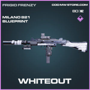 Whiteout Milano 821 blueprint skin in Black Ops Cold War and Warzone