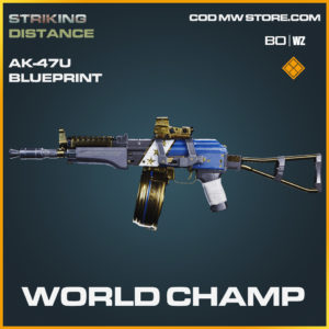World Champ AK-47u blueprint skin in Black Ops Cold War and Warzone