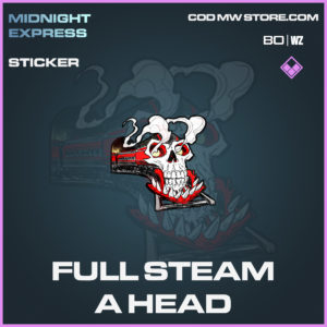 full steam a head sticker in Black Ops Cold War and Warzone
