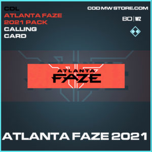 Atlanta Faze 2021 calling card in Black Ops Cold War and Warzone