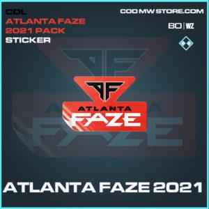 Atlanta Faze 2021 sticker in Black Ops Cold War and Warzone