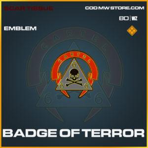 Badge of Terror emblem Black Ops Cold War and Warzone