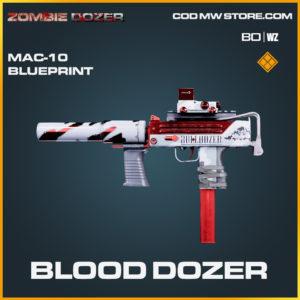 Blood Dozer MAC-10 skin blueprint in Black Ops Cold War and Warzone