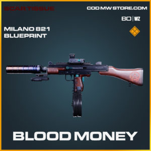 Blood Money Milano 821 skin blueprint in Black Ops Cold War and Warzone