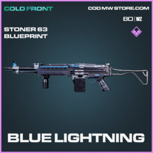 Blue Lightning Stoner 63 blueprint in Black Ops Cold War and Warzone