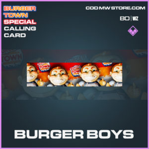 Burger Boys calling card in Cold War and Warzone