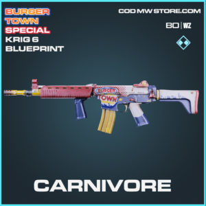 Carnivore Krig 6 blueprint skin in Cold War and Warzone