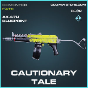 Cautionary Tale AK-47u blueprint skin in black ops cold war in warzone
