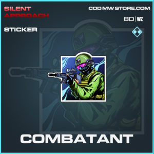 Combatant sticker in Cold War and Warzone