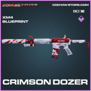 Crimson Dozer XM4 blueprint skin in Black Ops Cold War and Warzone