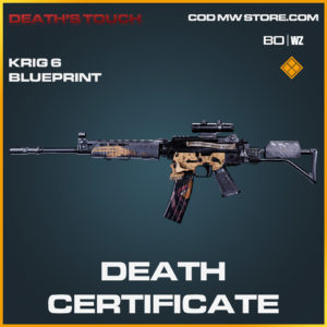 Death Certificate Krig 6 Blueprint in Black Ops Cold War and Warzone